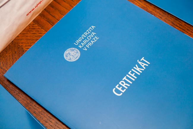 Сертификат UJOP Карлова университета