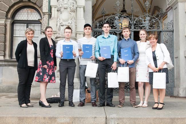 Вручение сертификатов 2015 UJOP Карлова университета, центр Либерец